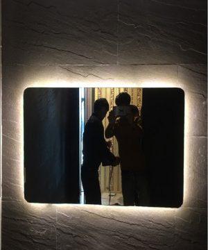 Gương đèn led nhà tắm hình chữ nhật