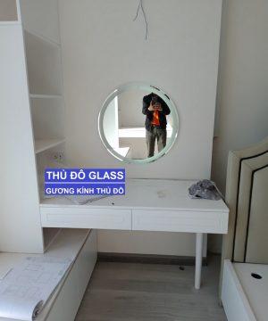 Gương tròn bàn trang điểm đèn led